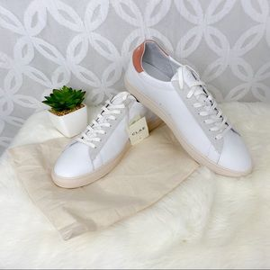 CLAE Bradley White Leather Sneakers NWT